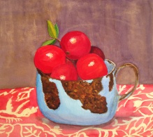 """Still Life With Cranberries, 17"""" x 16"""""""