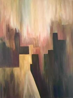 "City Silhouette, 30"" x 36"""