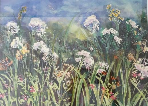 """Field of Wildflowers, 16"""" x 14"""" (NFS)"""