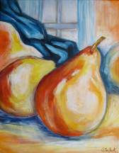 "Golden Pears, 12"" x 16"""