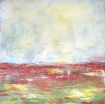 """Red Prairies, 8"""" x 8"""""""