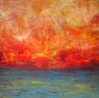 "Sunset's Promise, 16"" x 16"""