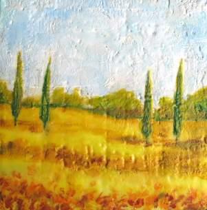 "Tuscan Field, 10"" x 10"""