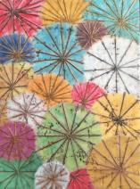 "Japanese Umbrellas, 12"" x 16"""