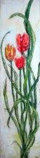 """Tulip Trio, 6"""" x 24"""" (SOLD)"""