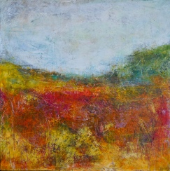 """Autumn's Secret, 14"""" x 14"""" framed"""