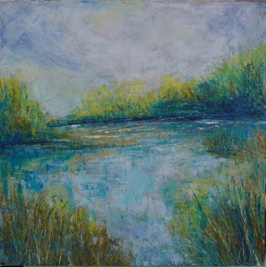 """In the Distance, 12"""" x 12"""" (SOLD)"""