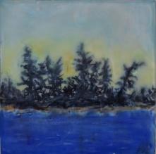 "Northern Pines, 4"" x 4"""