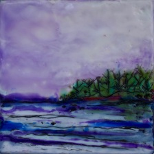 """Purple Sky, 4"""" x 4"""""""
