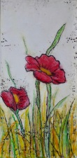 """Dance of the Poppies I, 6"""" x 12"""""""